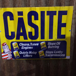 Casite Engine Additives Vintage Sign