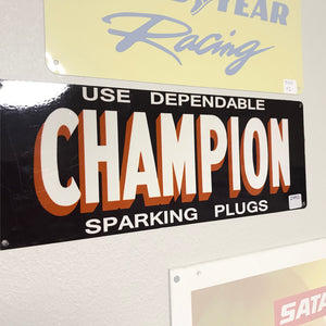 Champion Spark Plugs Banner Vintage Sign