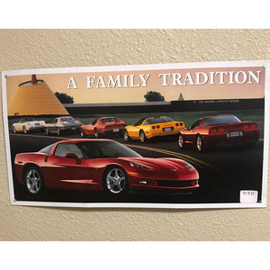 Chevrolet Corvette A Family Tradition Vintage Sign