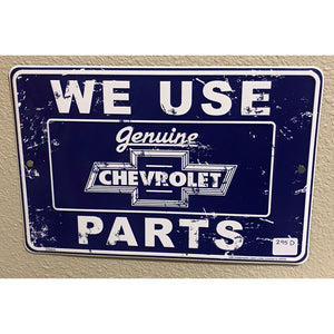 Chevrolet Genuine Parts Vintage Sign