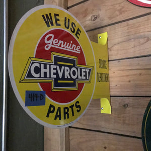 Chevrolet Parts Vintage Flange Sign