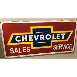 Chevrolet Sales Service Vintage Sign