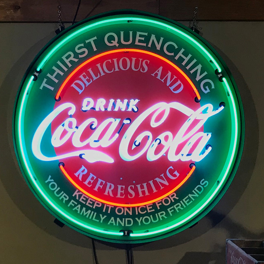 Coca-Cola Thirst Quenching Neon Sign 01