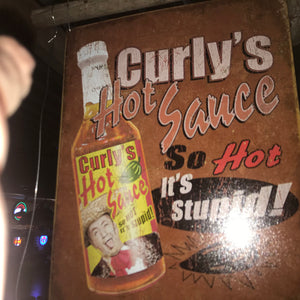 Curleys Sauce Vintage Sign