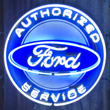 Load image into Gallery viewer, Ford Authorized Service Neon Sign 01