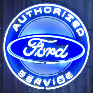 Ford Authorized Service Neon Sign 01