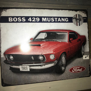 Ford Mustang Boss 429 Vintage Sign 520D