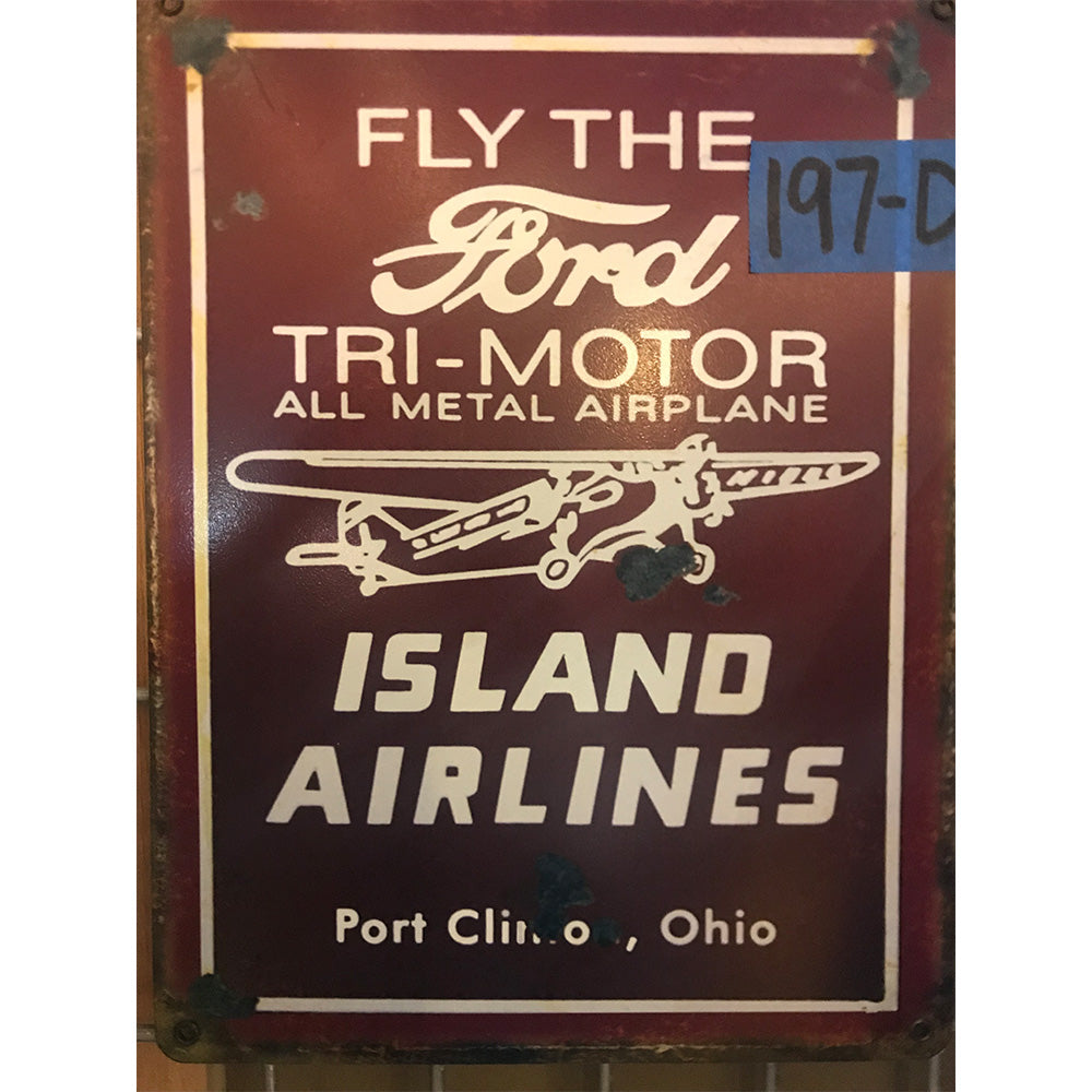 Ford Tri-Motor Island Airplace Vintage Sign