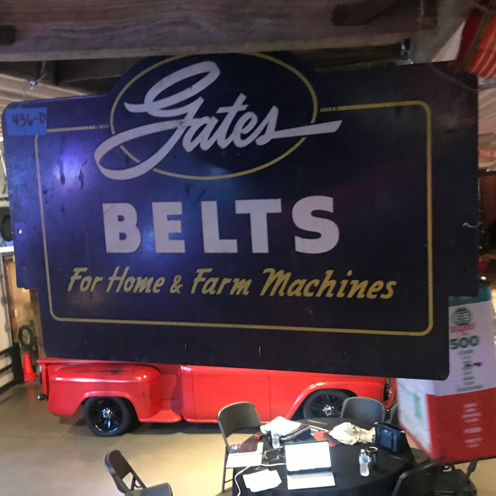Gates Belts Vintage Sign