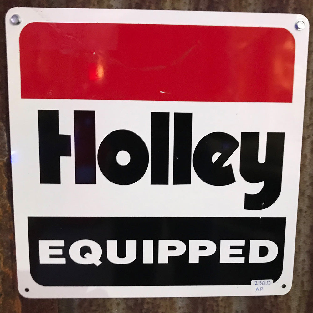 Holly Equipped Vintage Sign