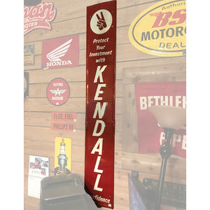 Kendall Motor Oil Vertical Vintage Sign