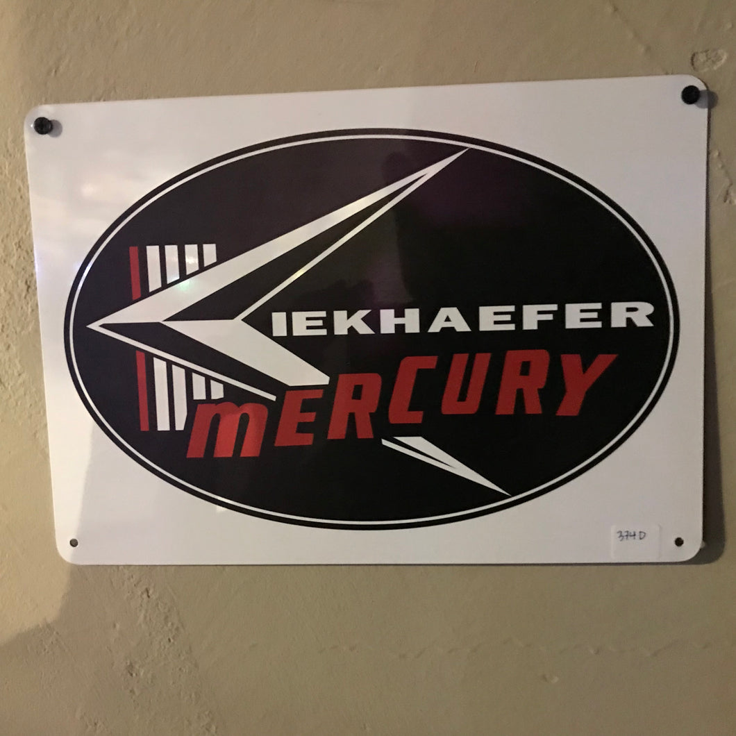 Kiekhaefer Mercury Vintage Sign 374D