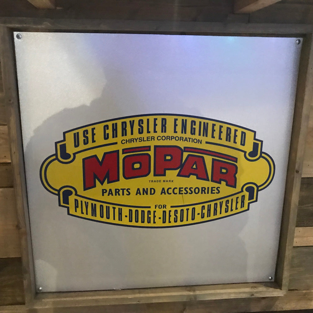 Mopar Parts And Service Vintage Sign