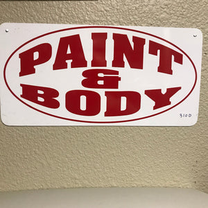 Paint And Body Sign