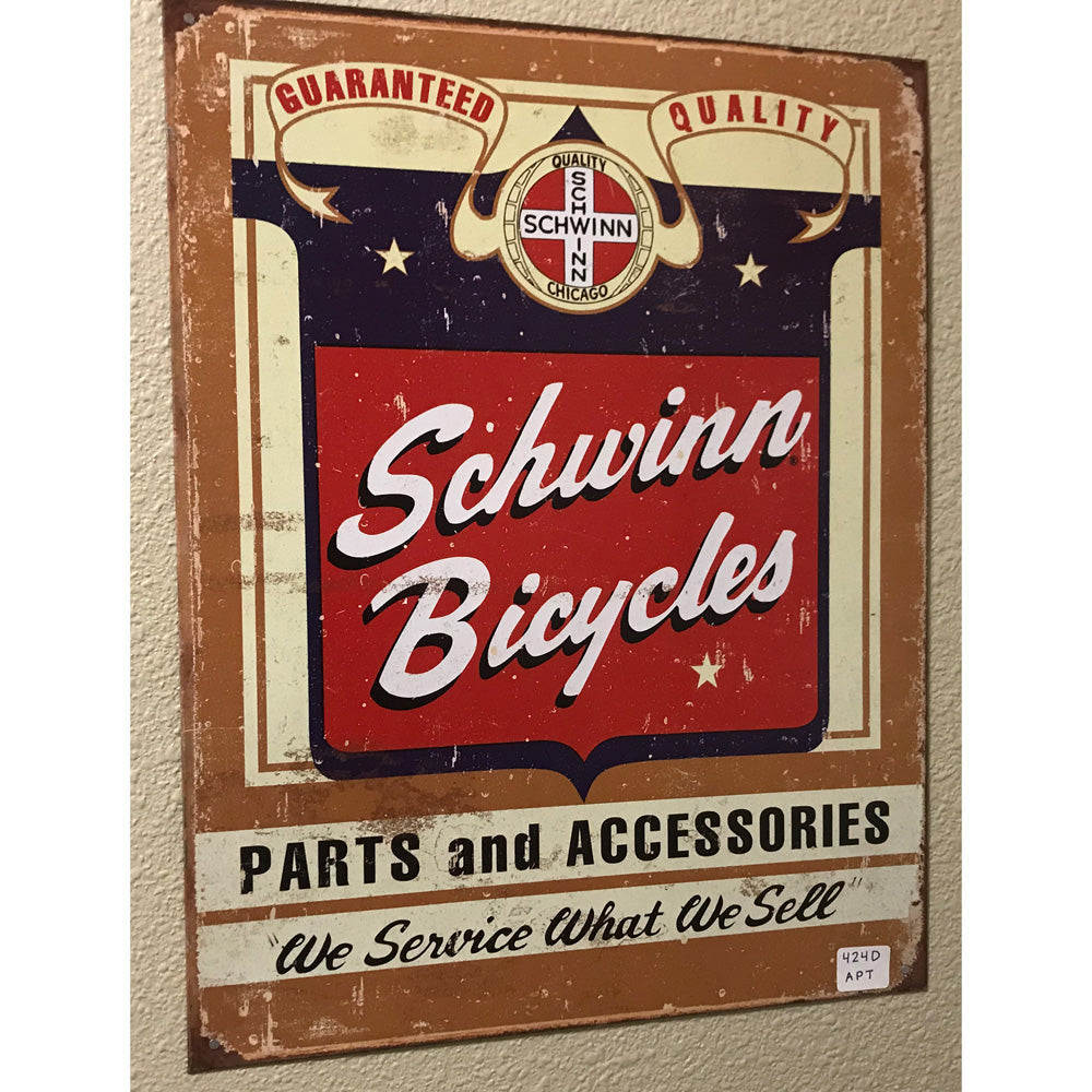 Schwinn Bicycles Parts And Accessories Vintage Sign