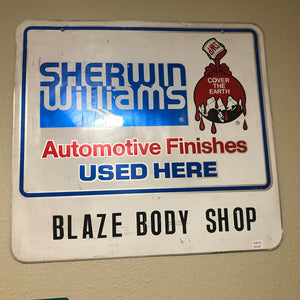 Sherwin Williams Auto Finishes Vintage Sign