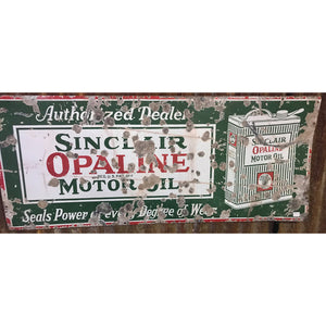 Sinclair Opaline Motor Oil Vintage Sign