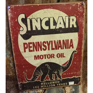 Sinclair Pennsylvania Motor Oil Vintage Sign