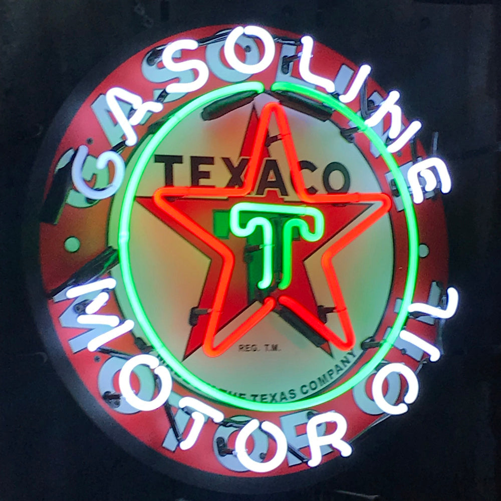 Texaco Gasoling 24 Inch Neon Sign