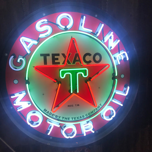 Texaco Gasoling 36 Inch Neon Sign