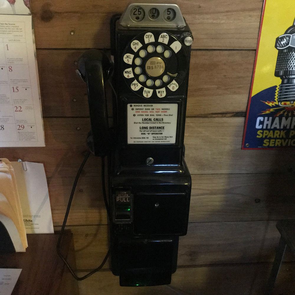 Vintage Wall Mount Pay Phone