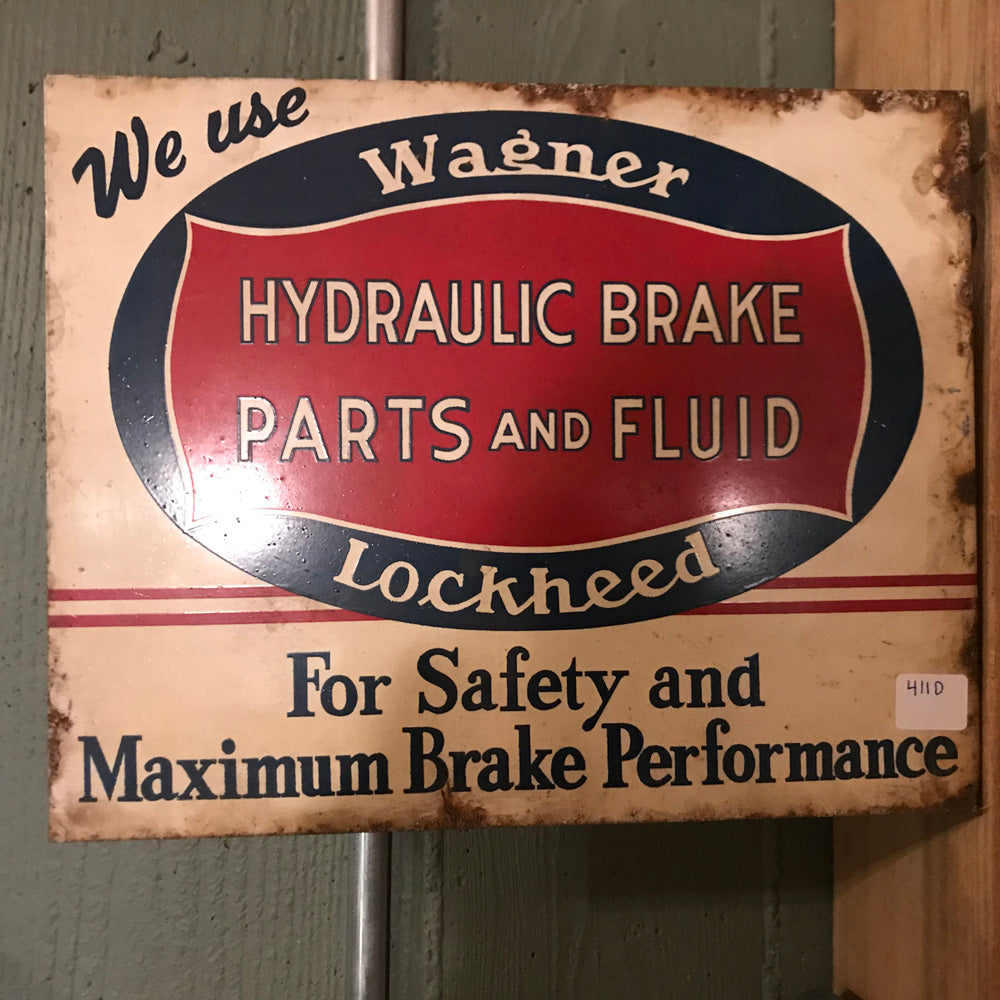 Wagner Hydraulic Brake Flange Sign