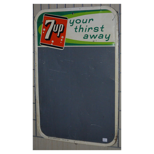 7Up Chalk Board Vintage Sign