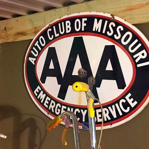 AAA of Missouri Vintage Sign
