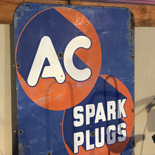 Load image into Gallery viewer, AC Spark Plug Blue and Orange Vintage Sign 02