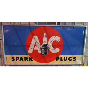 AC Spark Plugs Vintage Sign