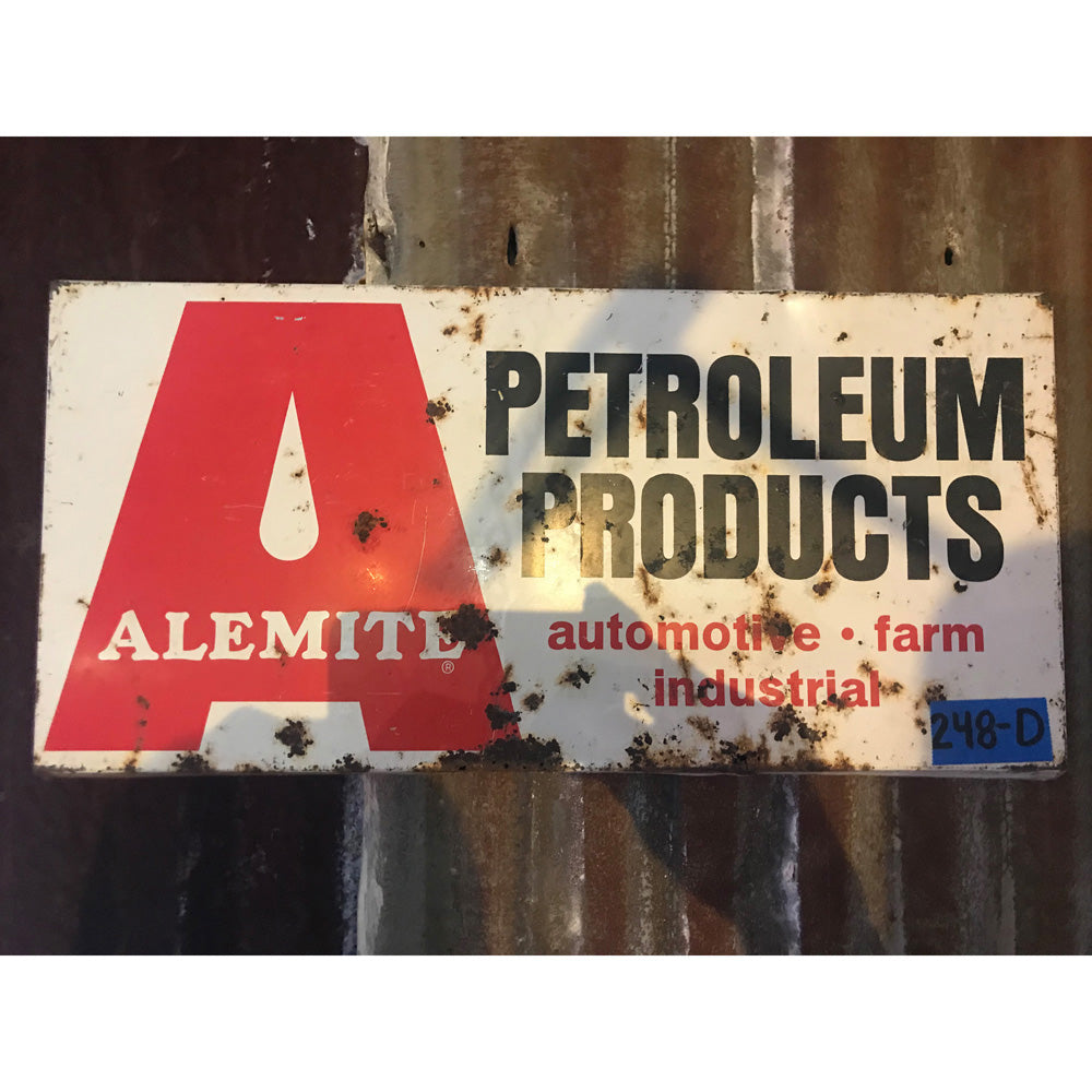 Alemite Petroleum Products Vintage Sign