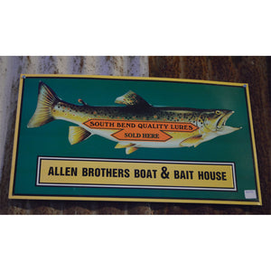 Allen Brothers Boat & Bait House Vintage Sign