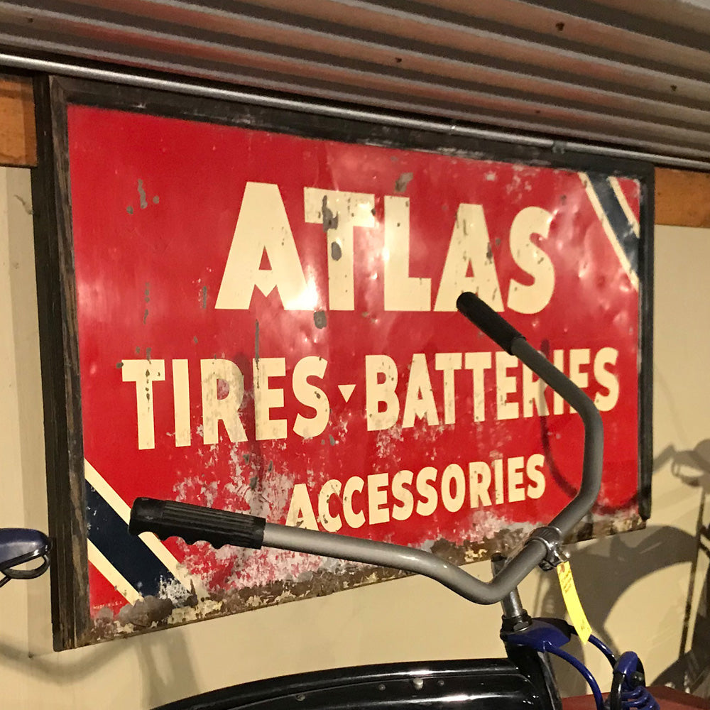 Atlas Tire & Battery Vintage Sign