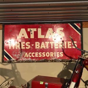Atlas Tire & Battery Vintage Sign 02