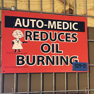 Auto-Medic Reduces Oil Burning Vintage Sign