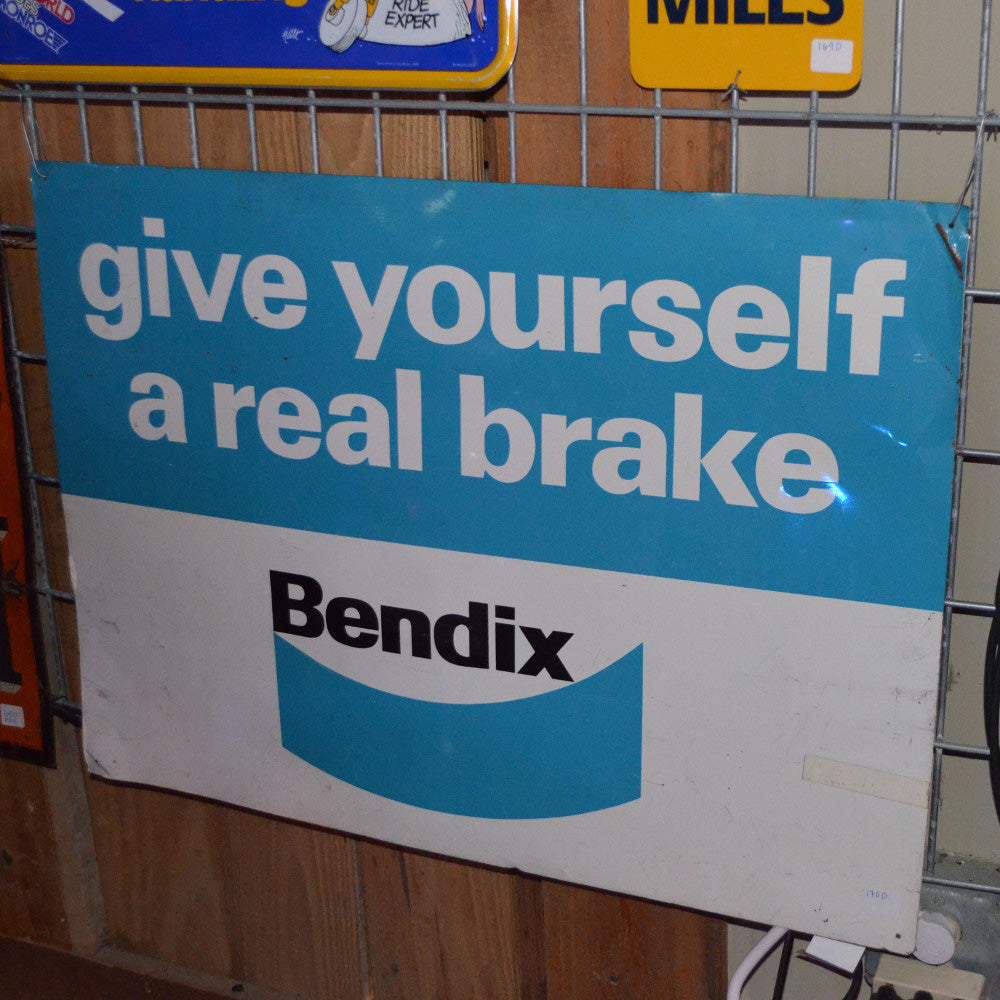 Bendix - Give Yourself a Real Brake Vintage Sign