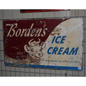 Borden'S Ice Cream Vintage Sign