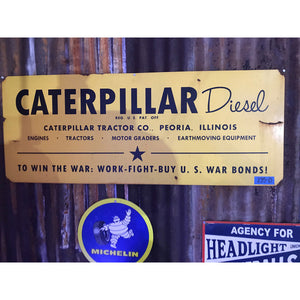 Caterpiller Diesel Equipment Vintage Sign