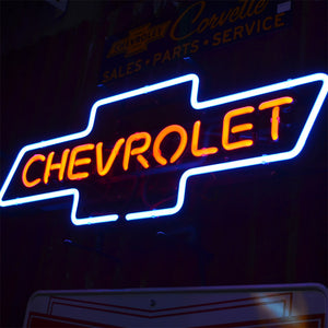 Chevrolet Logo neon sign with Chevrolet inside the logo 03