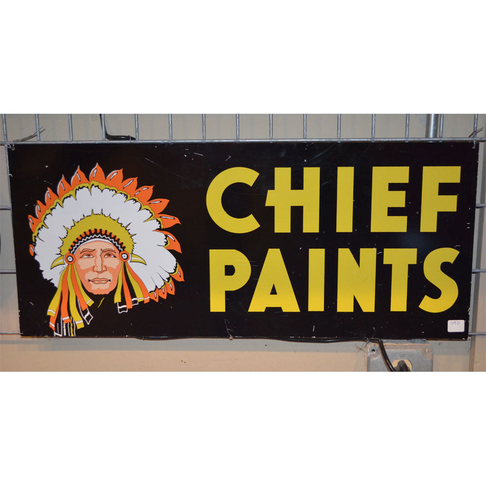 Chief Paints Vintage Sign