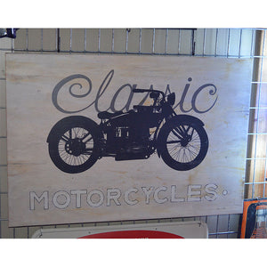 Classic Motorcycles Vintage Sign