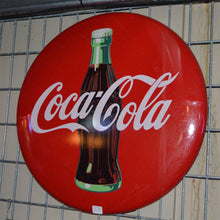 Load image into Gallery viewer, Coca-Cola Circular Sign Vintage Sign-2
