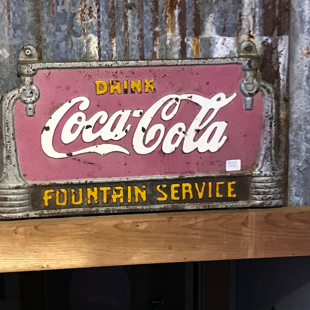 Coca-Cola Fountain Service Vintage Sign