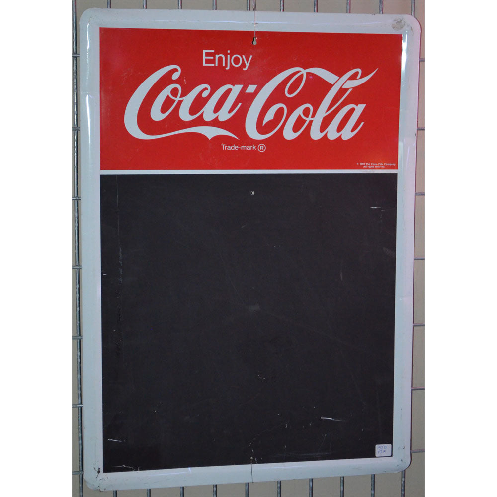 Coca-Cola Menu Board Vintage Sign