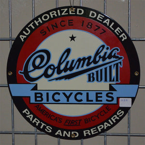 Columbia Built Bicycles Vintage Sign