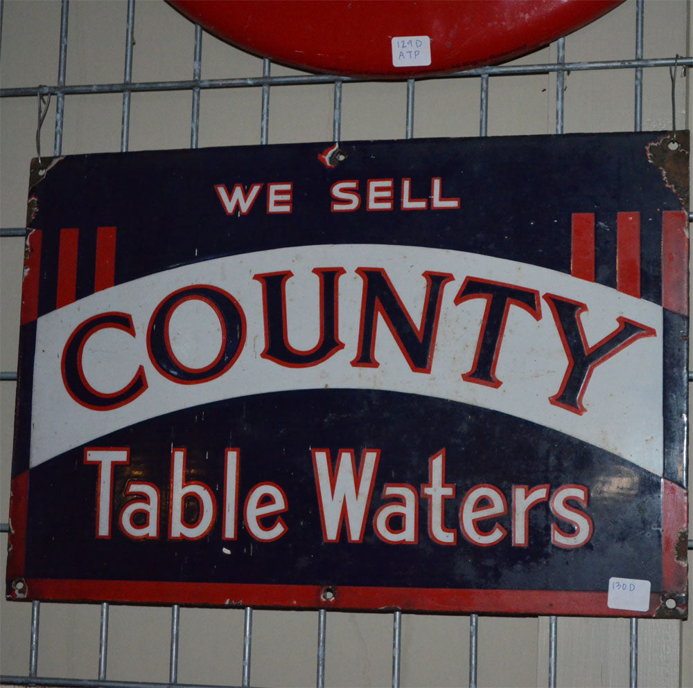 County Table Waters Vintage Sign
