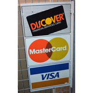 Credit Cards Vintage Sign