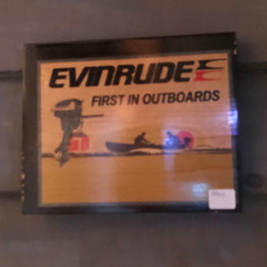 Evinrude First in Outboards Vintage Sign