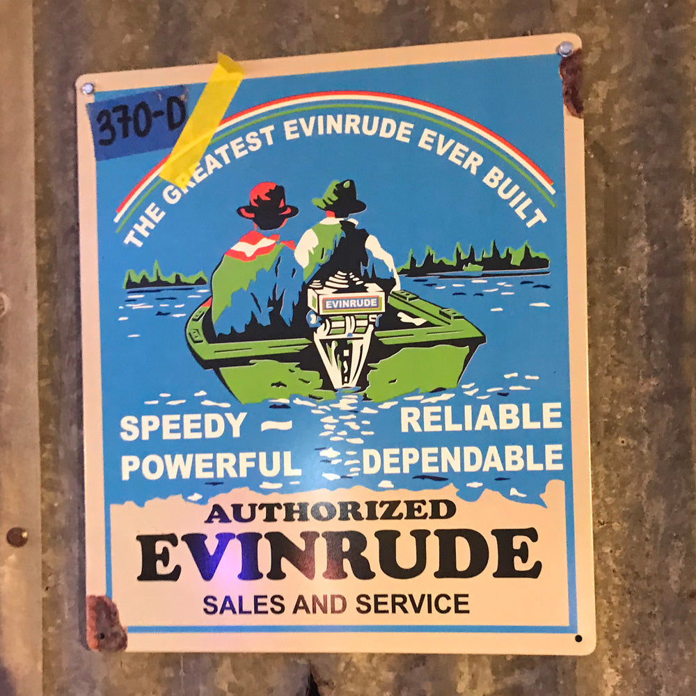 Evinrude Greatest Ever Built Vintage Sign