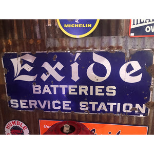 Exide Batteries Service Station Vintage Sign